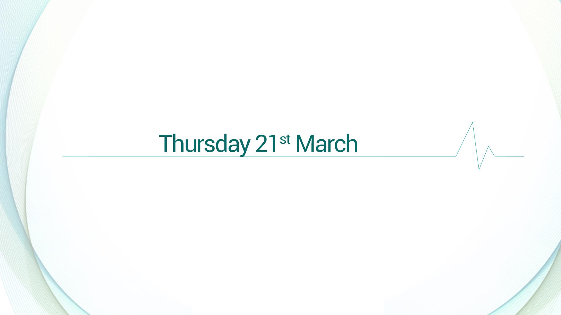 MUAC 2019 : Thursday, 21st March 2019