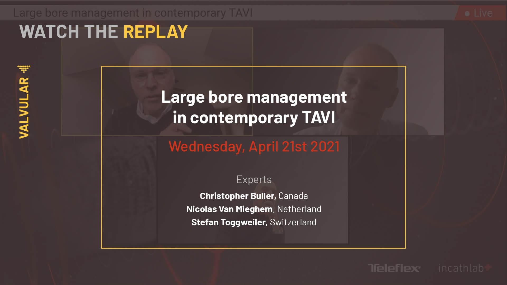 Large bore management in contemporary TAVI