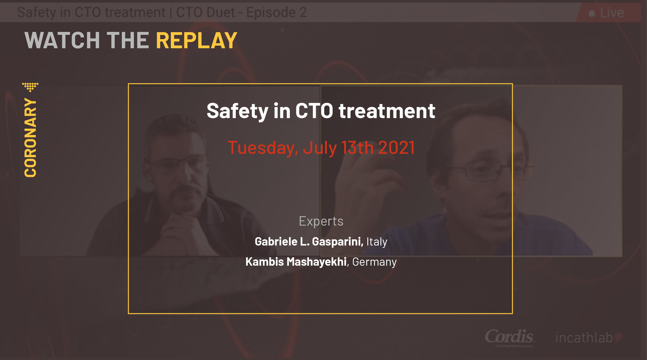 Safety in CTO treatment